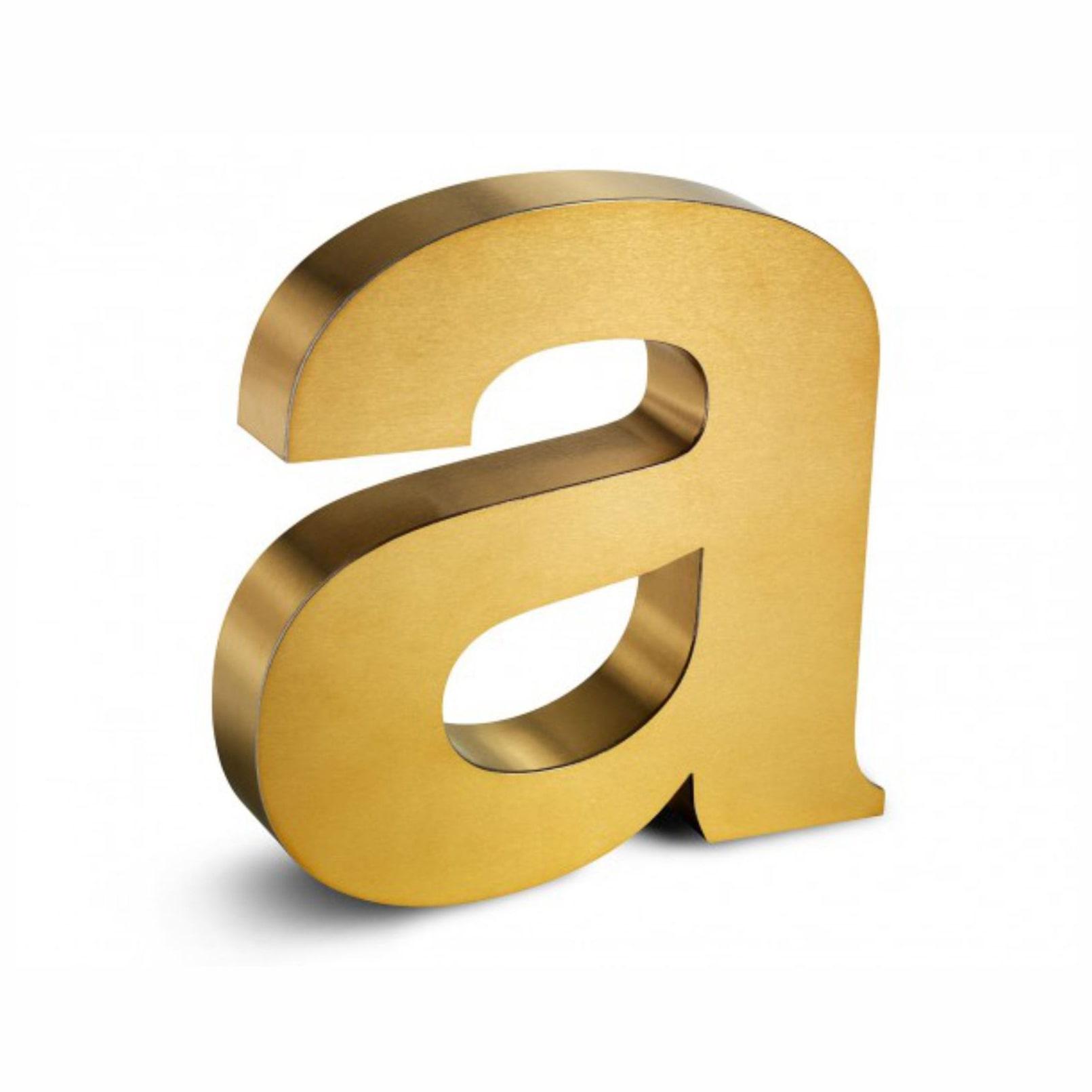 gold krom kutu harf