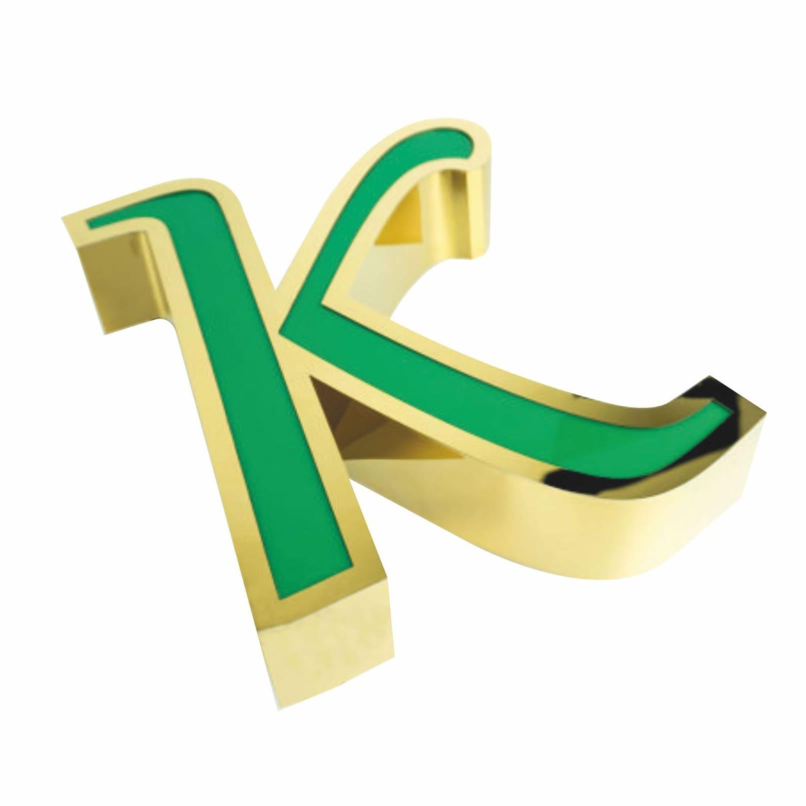 Gold Fileli Kutu harf