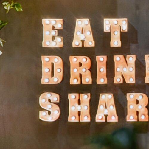 Eat drink share kutu harf uretim